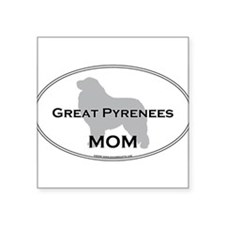 """Funny Breed dogs pet Square Sticker 3"""" x 3"""""""
