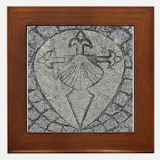Sarria Waymarker-Image Only Framed Tile