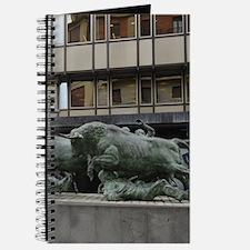 Pamplona bull sculpture Journal