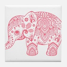 Unique Pink elephant Tile Coaster