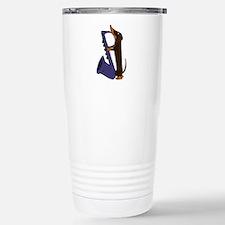 Funny Saxophone Travel Mug