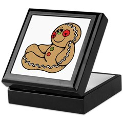 Happy Gingerbread Man Keepsake Box