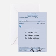 Cute Alcoholics anonymous Greeting Cards (Pk of 20)