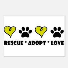 Rescue * Adopt * Love Postcards (Package of 8)