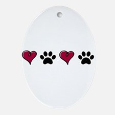 Love Pets Oval Ornament