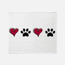 Love Pets Throw Blanket