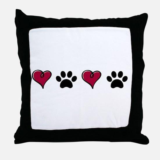 Love Pets Throw Pillow