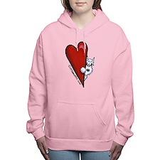 Cute Miniature schnauzer Women's Hooded Sweatshirt