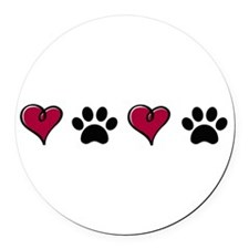 Love Pets Round Car Magnet