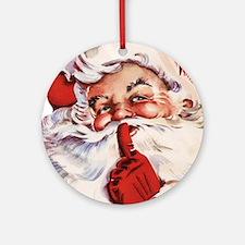 Santa20151105 Round Ornament