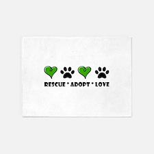 Rescue*Adopt*Love 5'x7'Area Rug