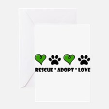 Rescue*Adopt*Love Greeting Cards
