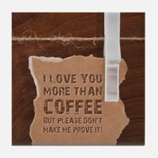 Funny Coffee and tea Tile Coaster