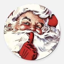 Santa20151107 Round Car Magnet