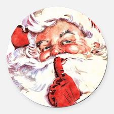 Santa20151106 Round Car Magnet