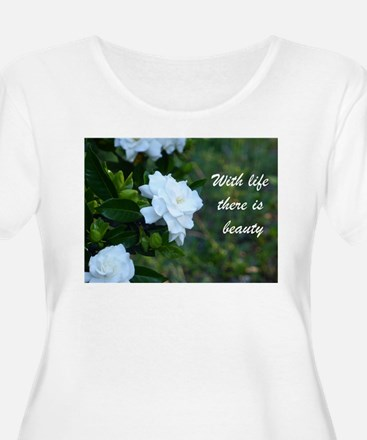 Meaningful Gardenia Flower Quote Plus Size T-Shirt
