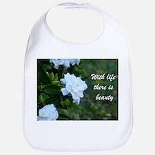 Meaningful Gardenia Flower Quote Bib