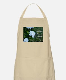 Meaningful Gardenia Flower Quote Apron
