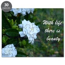 Meaningful Gardenia Flower Quote Puzzle