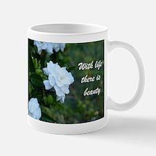 Meaningful Gardenia Flower Quote Mugs