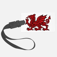 Red Welsh Dragon Luggage Tag