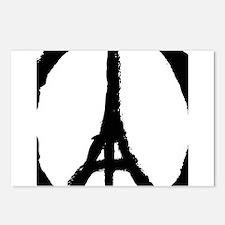 paris peace eiffel tower Postcards (Package of 8)