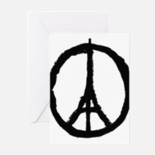 paris peace eiffel tower Greeting Cards