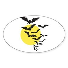 Bats Oval Decal