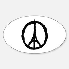 paris peace eiffel tower Decal