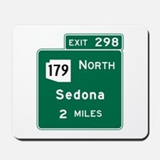 Sedona, AZ Road Sign, USA Mousepad