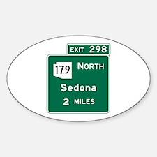 Sedona, AZ Road Sign, USA Decal