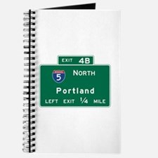 Portland, OR Road Sign, USA Journal