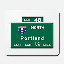 Portland, OR Road Sign, USA Mousepad