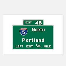 Portland, OR Road Sign, U Postcards (Package of 8)