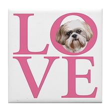 Shih Tzu Love - Tile Coaster