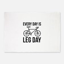 Every Day Is Leg Day 5'x7'Area Rug
