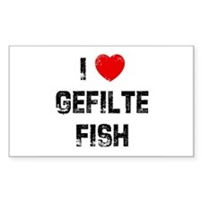 I * Gefilte Fish Rectangle Decal