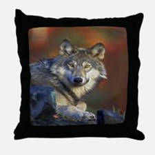 Cute Spirit of the wolf Throw Pillow