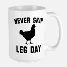 Never Skip Leg Day Large Mug