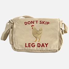 Don't Skip Leg Day Messenger Bag