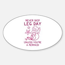 Never Skip Leg Day Decal