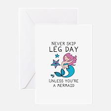 Never Skip Leg Day Greeting Card