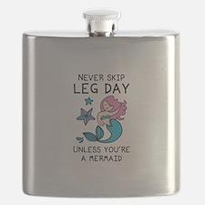 Never Skip Leg Day Flask