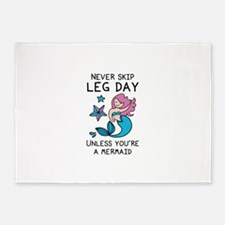 Never Skip Leg Day 5'x7'Area Rug