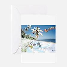 Cool Christmas scuba Greeting Card