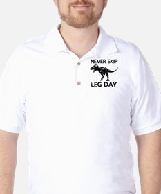Never Skip Leg Day Golf Shirt