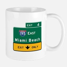 Miami Beach, FL Road Sign, USA Mug