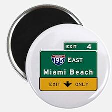 Miami Beach, FL Road Sign, USA Magnet