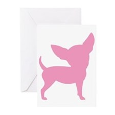 Pink Funny Cute Chihuahua Greeting Cards (Pk of 10