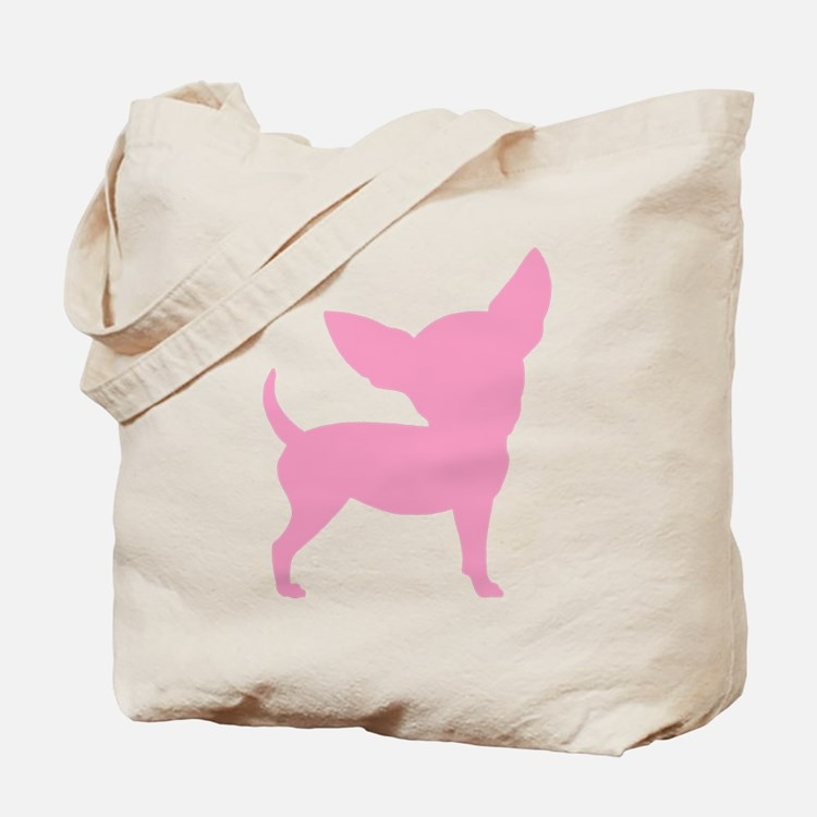 Pink Funny Cute Chihuahua Tote Bag